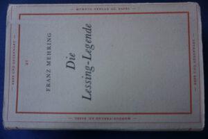 Die 1946 von Hans Mayer herausgegebene Lessing-Legende