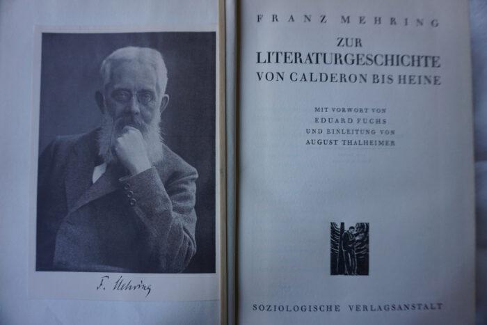 Ein Band zur Literatur aus der Gesamtausgabe der 20ger Jahre (Foto HB)